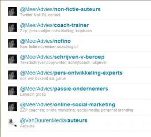 Twitterlijsten Meer Advies