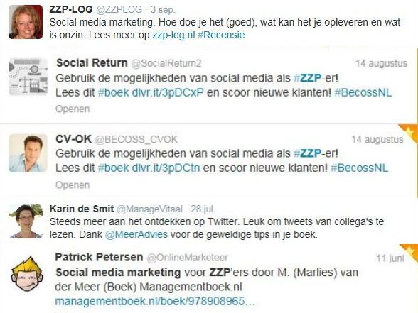 Social media marketing zzp testimonial 2013