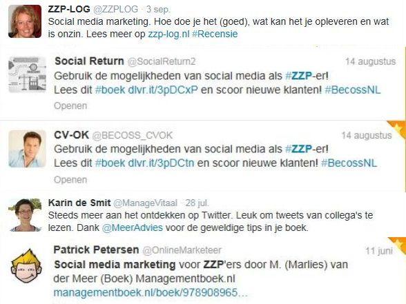 Social media marketing zzp testimonial 2013