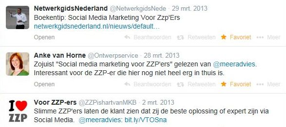 Social media marketing zzpTestimonial mrt