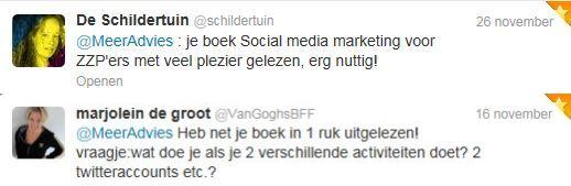 Tweetmonials boek social media zzp nov