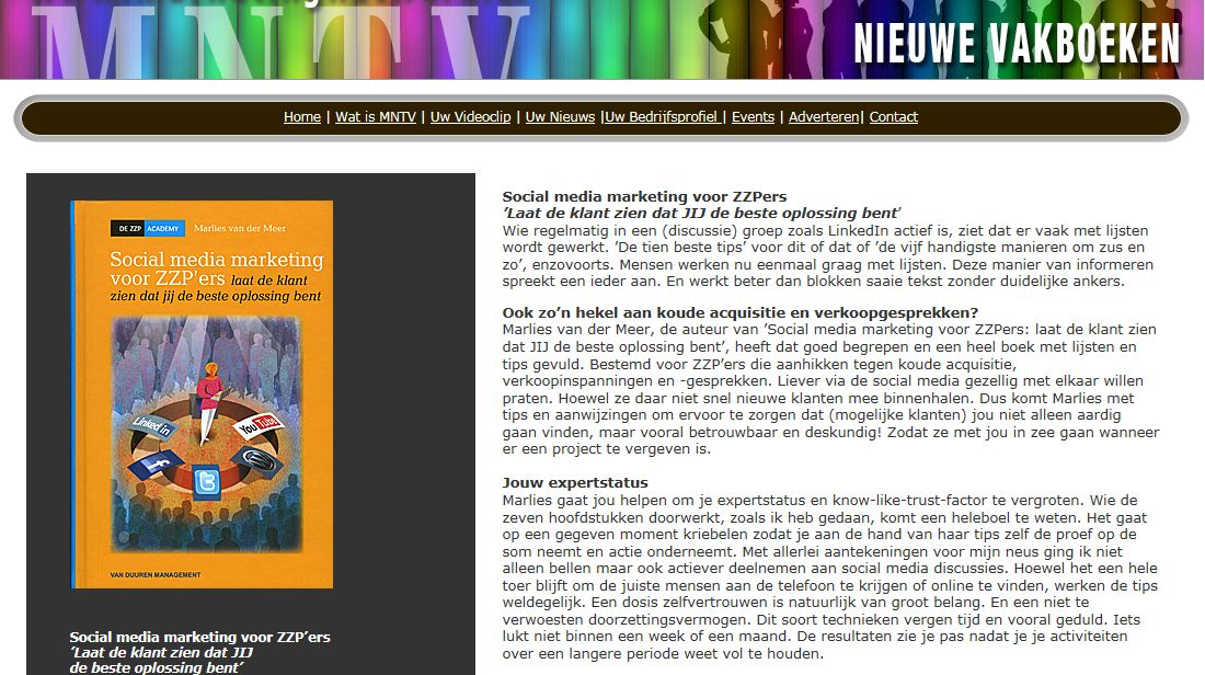 recensie social media marketing marlies van der meer