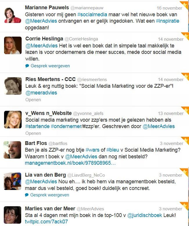 nov Tweetmonial social media marketing
