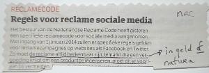 reclame code social media